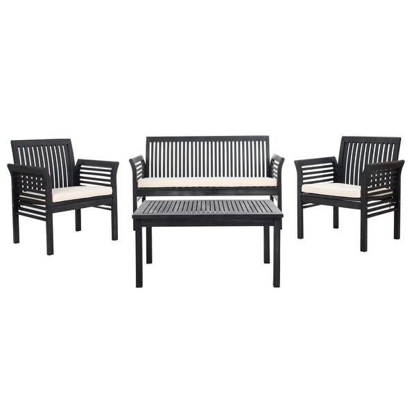 Shop Safavieh Outdoor Living Carson 4 Pc Outdoor Set ... on Safavieh Outdoor Living Montez 4 Piece Set id=14802