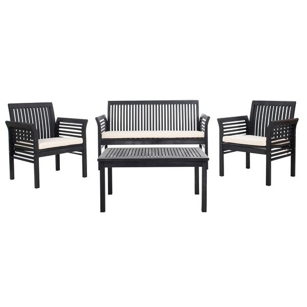 Shop Safavieh Outdoor Living Carson 4 Pc Outdoor Set ... on Safavieh Outdoor Living Montez 4 Piece Set id=24252