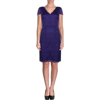 Laundry by Shelli Segal Womens Party Dress Lace Double V