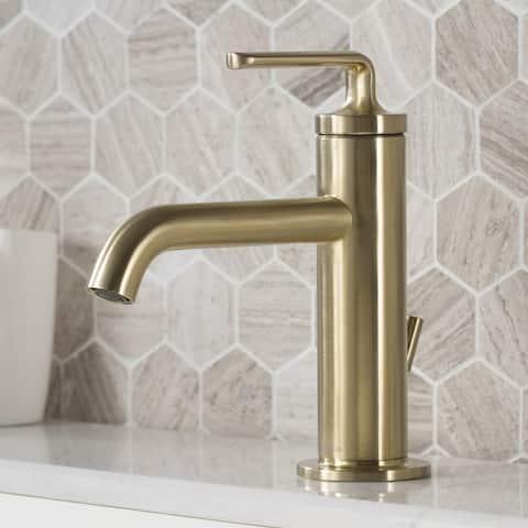 KRAUS Ramus Single Handle Bathroom Sink Faucet w/ Lift Rod Drain