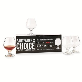 Amici Bartender's Choice Footed Snifter Cognac Glass Set of 4
