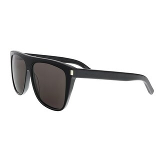 Saint Laurent SL 1 002 Black Rectangle Sunglasses