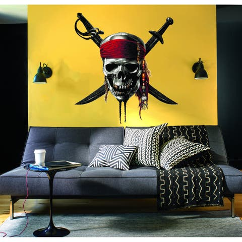 Pirate Skull Decal, Pirate Skull Sticker, Pirate Skull Wall Decor