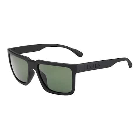 Bolle Frank 57mm HD Polarized Axis Sunglasses (Matte Black)