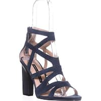French Connection Isla Strappy Heel Sandals, Navy Suede - 9.5 us / 39.5 eu