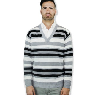 Striped V Neck Sweater (4 options available)