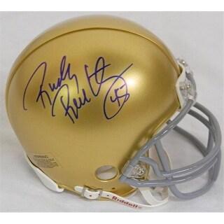 Rudy Ruettiger Signed Notre Dame Riddell Mini Helmet