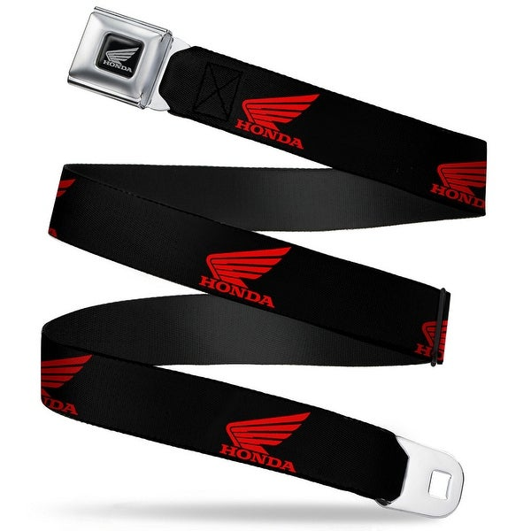 Honda Motorcycle Black Silver Honda Motorcycle Logo Black Red Seatbelt Belt Seatbelt Belt