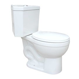 White Porcelain Round Space Saving Dual Flush Corner Toilet
