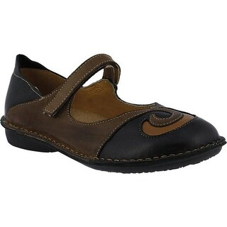 Spring Step Women's Cosmic Black/Brown Combo Leather