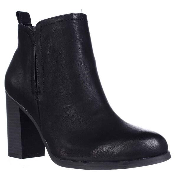 AR35 Seleste Block Heel Chelsea Booties, Black