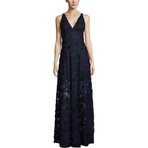 Xscape Womens Evening Dress Floral Lace Sleeveless