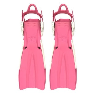 Scuba Choice Palantic Open Heel Rubber Dive Fins with Bag, Pink