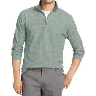 Izod Mens Funnel-Neck Sweatshirt 1/4 Zip Textured