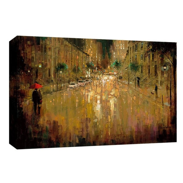 """PTM Images 9-148027 PTM Canvas Collection 8"""" x 10"""" - """"Brownstone Romance"""" Giclee Couples Art Print on Canvas"""
