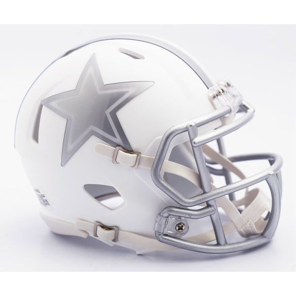 Dallas Cowboys Riddell Matte White ICE Alternate Speed Mini Football Helmet
