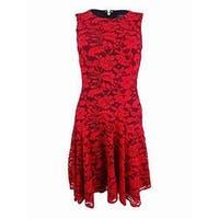Tommy Hilfiger Fire Red Women's Size 6 Floral Lace Sheath Dress