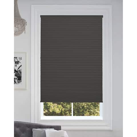 """BlindsAvenue Cordless Blackout Cellular Honeycomb Shade, 9/16"""" Single Cell, Anthracite"""