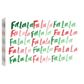 """PTM Images 9-102085  PTM Canvas Collection 8"""" x 10"""" - """"Falala 2"""" Giclee Holiday Art Print on Canvas"""