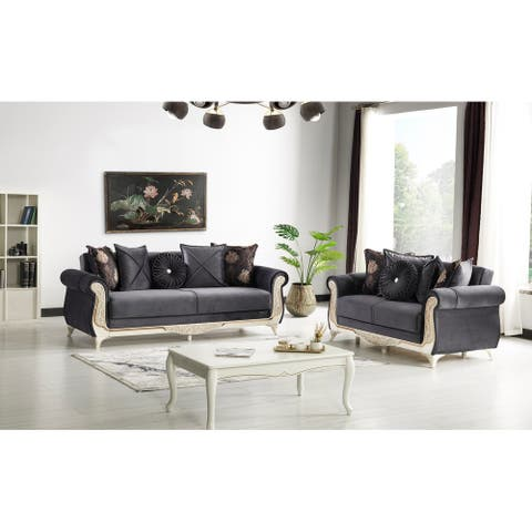 Bord 2 Pieces Living Room Set Anthracite