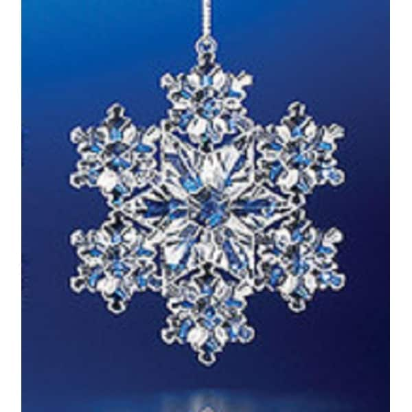 "Decorative Crystal Looking Christmas Snowflake Ornament 3"""