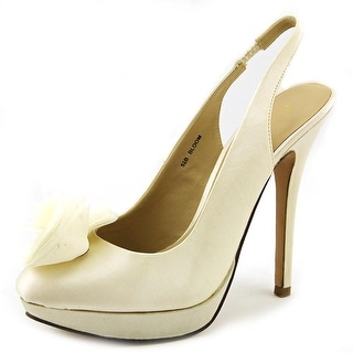 Brianna Leigh Bloom Pointed Toe Canvas Heels