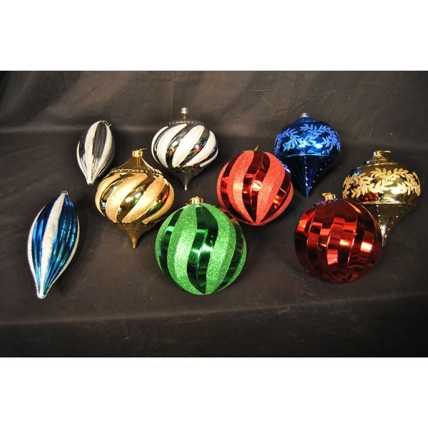 Christmas at Winterland WL-ORN-9PK Assorted Colors Ornament Kit Indoor/Outdoor (Package of 9)