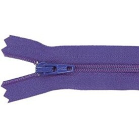 "Purple - Ziplon Coil Zipper 14"""