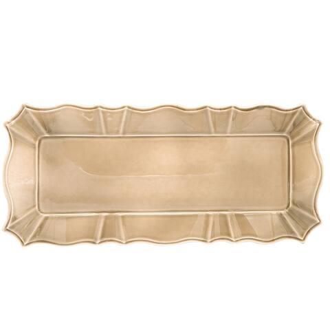 "Euro Ceramica Chloe 16"" Rectangular Platter/Tray"