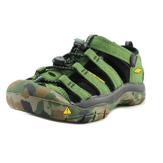 Keen Newport H2 Youth Round Toe Synthetic Green Fisherman Sandal