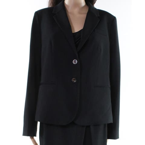 J. Crew Deep Black Womens Size XL Two Button Three Pocket Blazer