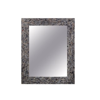 "Kenroy Home 60281  Glorious 38"" x 28"" Rectangular Flat Wall Mounted Mirror - Mixed Glass Mosaic"