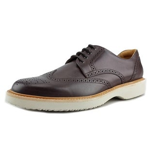 Hogan H217 Route Derby Bucature Men Round Toe Leather Brown Oxford
