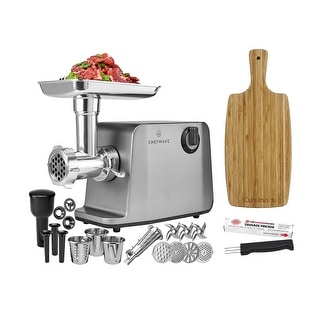ChefWave 1800W Electric Meat Grinder, Stainless Steel & Accessories
