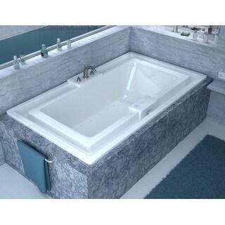 "Avano AV4678IAL Tahiti 78"" Acrylic Air Bathtub for Drop-In Installations with Center Drain - White"