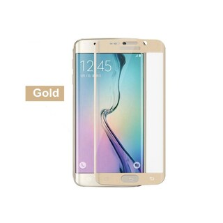 Full Curved Tempered Glass for Samsung Galaxy S6 Edge (Option: Gold)