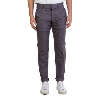 Prada Men's Fine Gabardine Trouser Pants Grey - 34