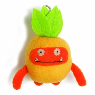"""Ugly Dolls Fruities 4"""" Plush Clip-On: Wage Pineapple"""