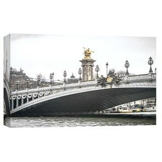 """PTM Images 9-102264  PTM Canvas Collection 8"""" x 10"""" - """"Paris Bridge"""" Giclee Paris Art Print on Canvas"""
