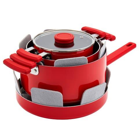 Denmark 7PC Stax Aluminum Cookware Set - Red