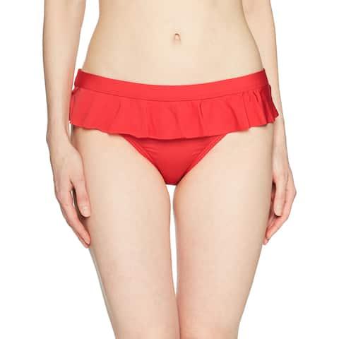 Kenneth Cole REACTION Red Women's Size Large L Bikini Bottom Swimwear