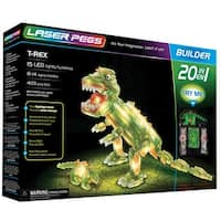 Dinosaur Laser Pegs Kit = Light Up Building Block  Construction Toy