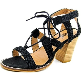 Diba Pop Art Women  Open Toe Suede Black Sandals