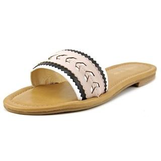 Ivanka Trump Arina Open Toe Leather Slides Sandal