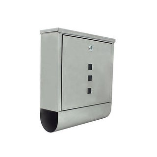 Wall Mounted Mail Box with Retrieval Door & Newspaper
