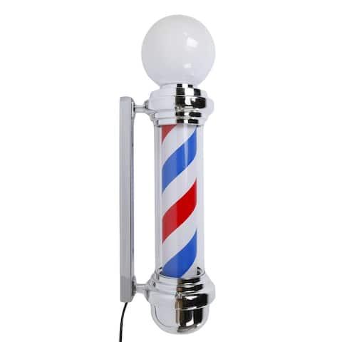 "32"" Rotating Barber Pole Light LED Light US Plug"