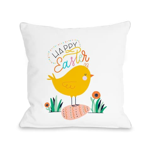 Easter Chick - Yellow Throw Pillow