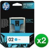 HP 02 Cyan Original Ink Cartridge (C8771WN) (2-Pack)