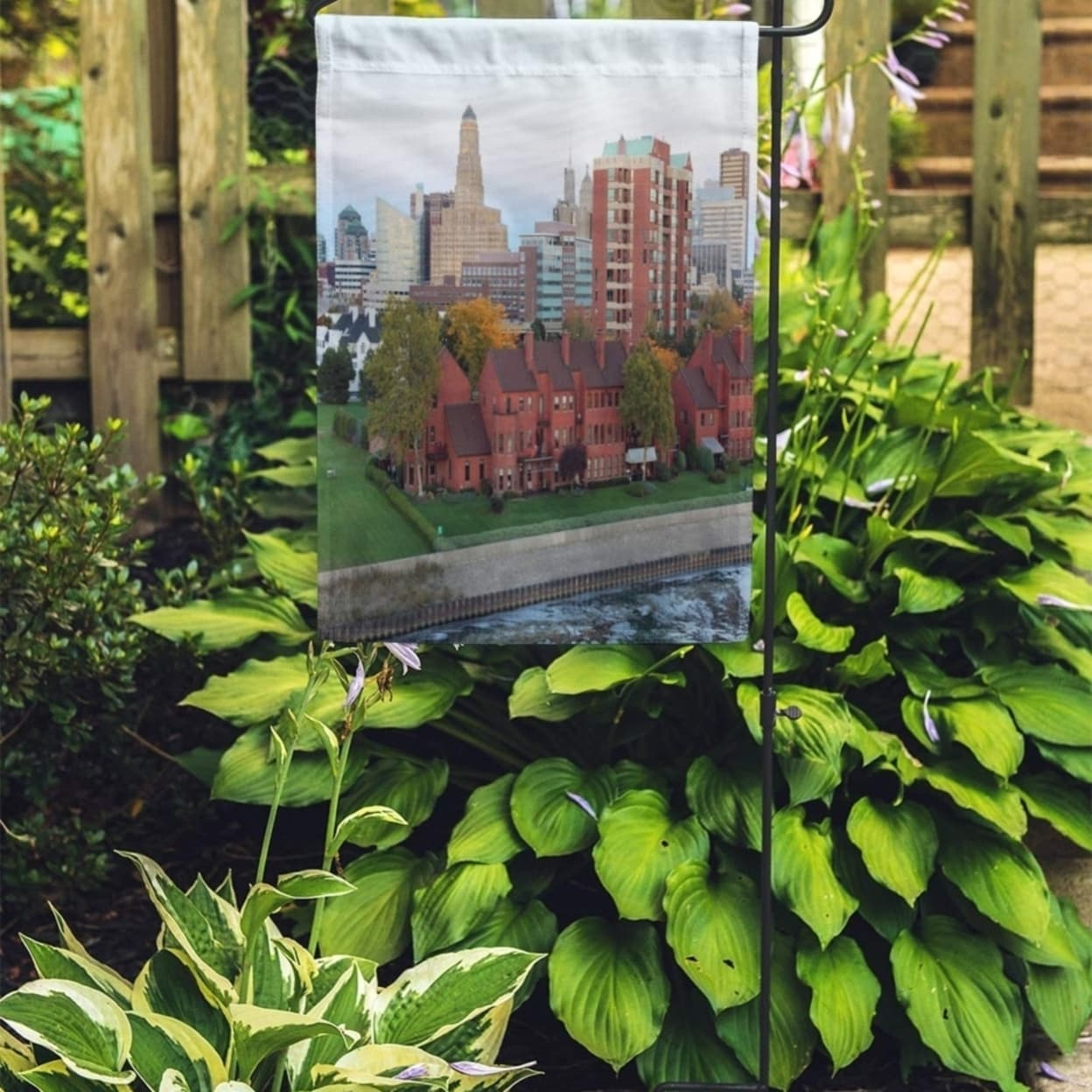 Shop Buffalo Skyline At Dusk In October From The Erie Basin Garden Flag Decorative Flag House Banner 28x40 Inch On Sale Overstock 31391622