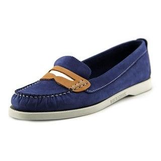 Sebago Docksides Penny Women Moc Toe Canvas Blue Loafer